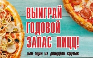 Акция День рождения БирСити — выиграй годовой запас пиццы