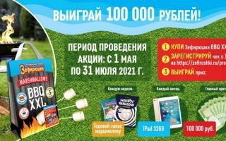 Как зарегистрировать чек от зефира Зефирюшки BBQ XXL и выиграть 100000 рублей
