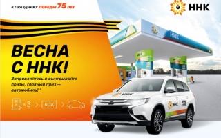 Как зарегистрировать чек АЗС ННК и выиграть автомобиль Mitsubishi