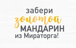 Акция Золотой мандарин в Мираторге — регистрация чека и правила игры