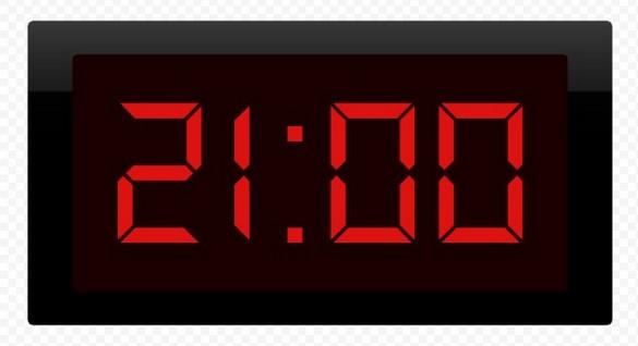 21 час