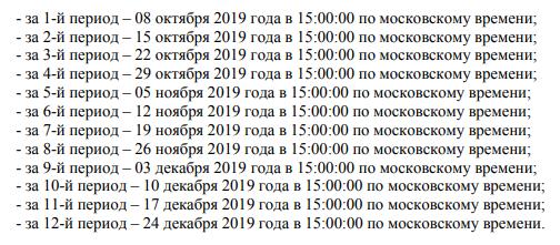 даты розыгрышей