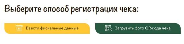 выбор способа регистрации